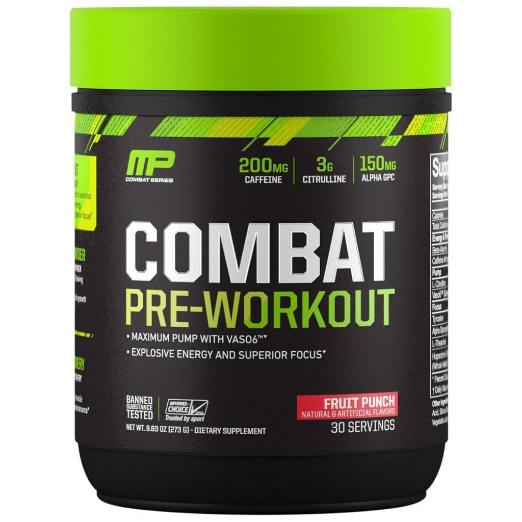 Muscle Pharm Combat Pre Workout Review