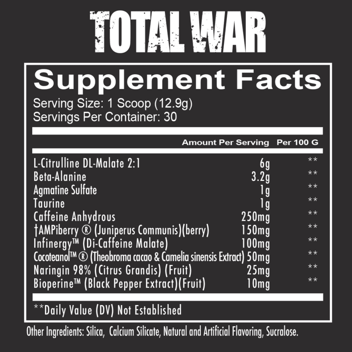Total War Pre Workout Ingredients