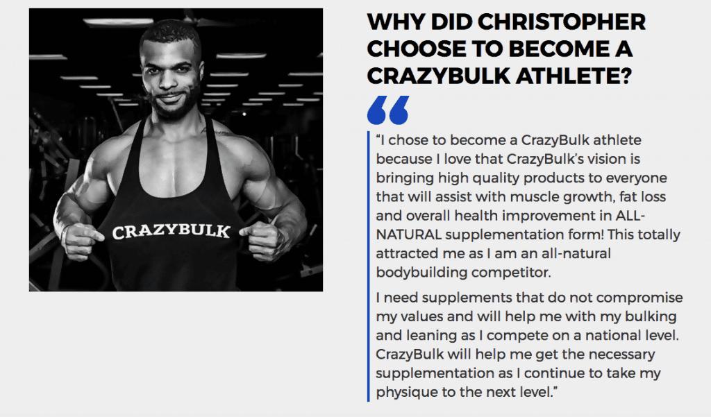 CrazyBulk-Athleten, Christopher Tripp