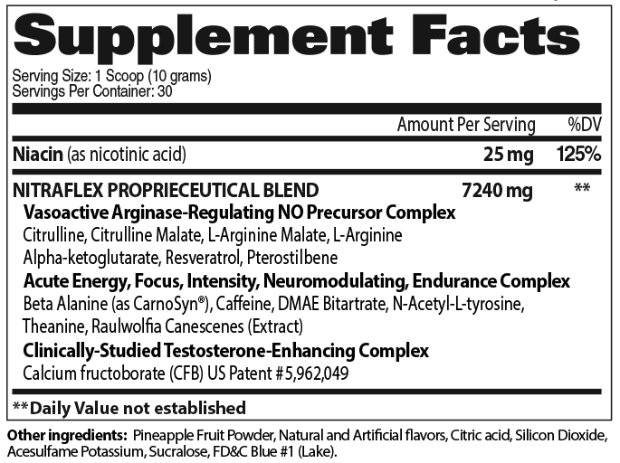 GAT Nitraflex Ingredients