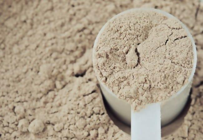 Whey-Proteinpulver.