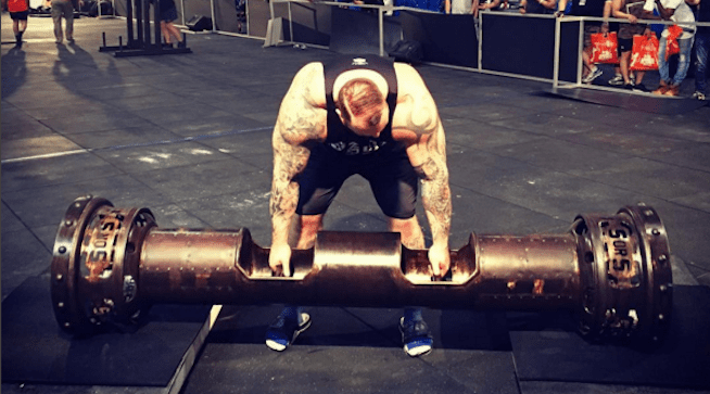 hafthor bjornsson lifting weights