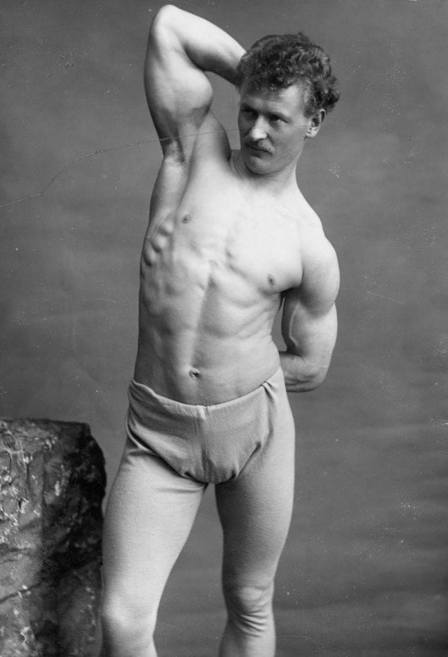 Eugen Sandow Before and After