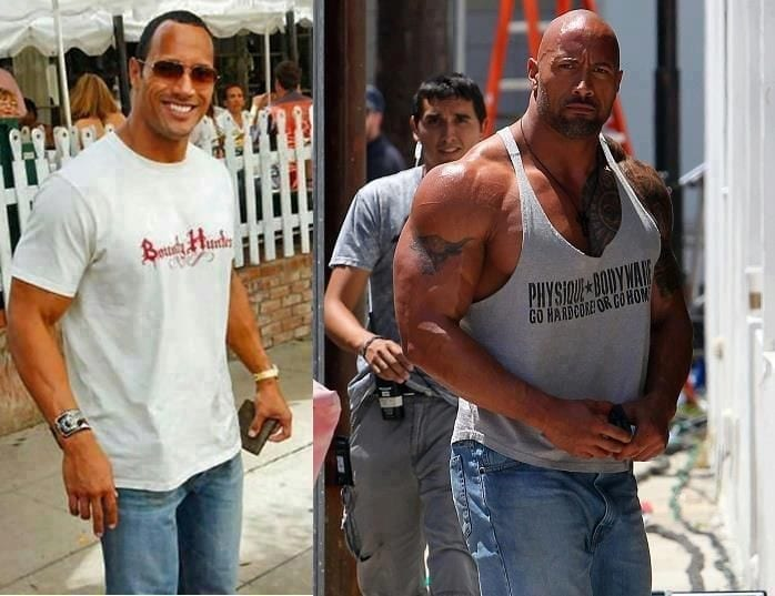 Is Dwayne Johnson the Rock on Steroids