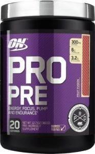 pro pre pre workout