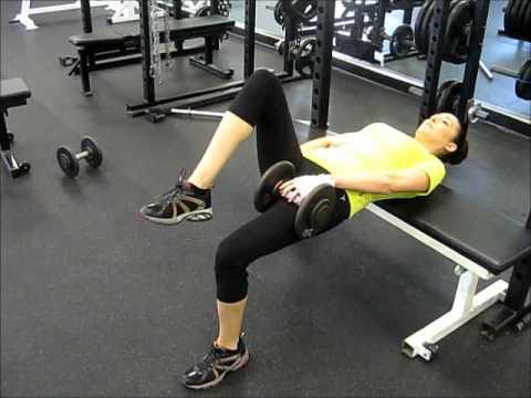 dumbbell one leg hip thrust for dumbbell leg workout
