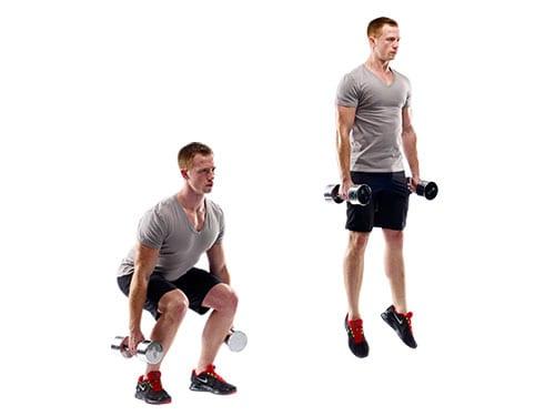 dumbbell jump squat