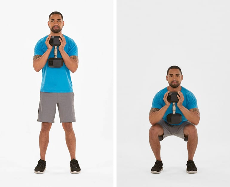 how can I train my legs with dumbbells