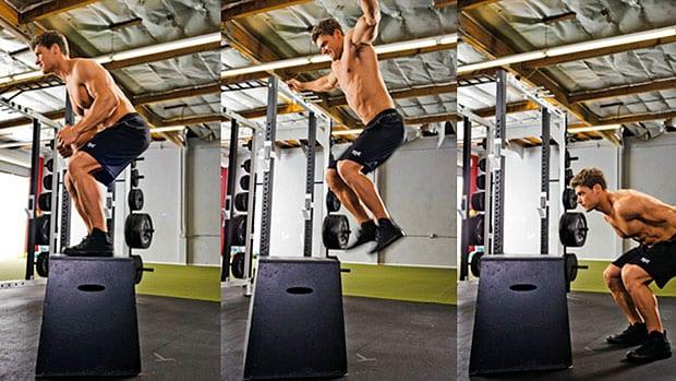 dumbbell box jump for dumbbell leg workout