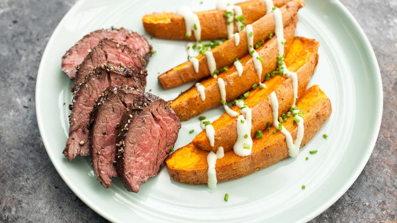 beef and sweet potatoes bodybuilding breakfast for muscle growth