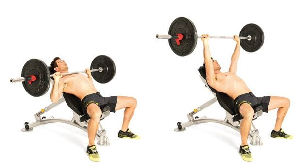 incline bench press is best upper chest workout