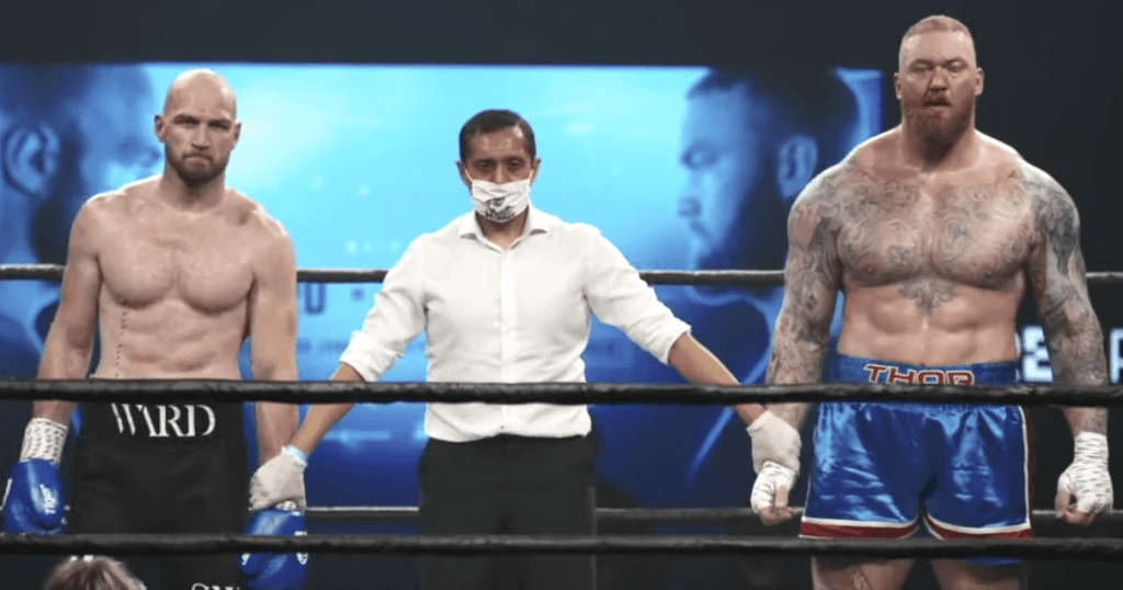 Steven Ward vs hafthor bjornsson boxing match