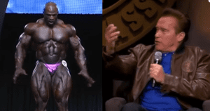 arnold's reaction seeing ronnie coleman for the first time