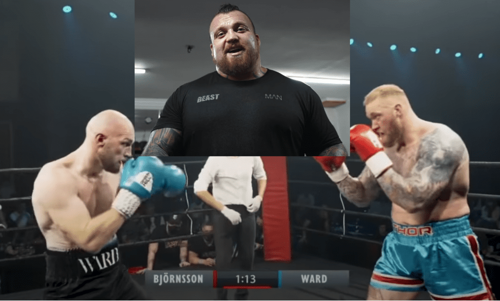 Eddie hall roasting hafthor for not landing a punch against steven ward