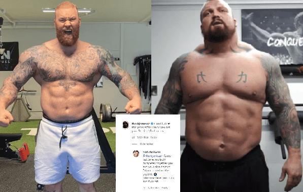 hafthor bjornsson and eddie hall beef